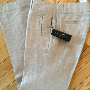 NWT Banana Republic 718 Martin Fit Linen Trousers